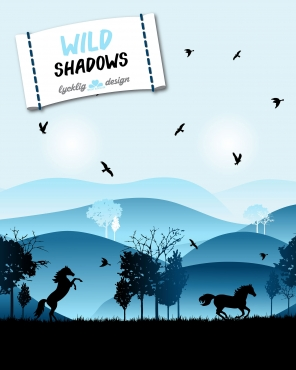 0,1m WildShadows by lycklig design blau