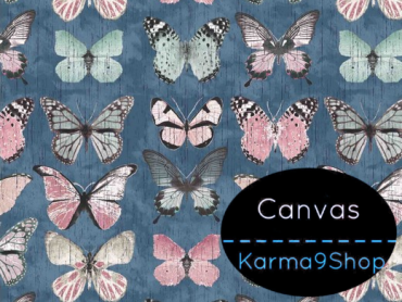 0,5m Canvas Beautiful Butterfly blau