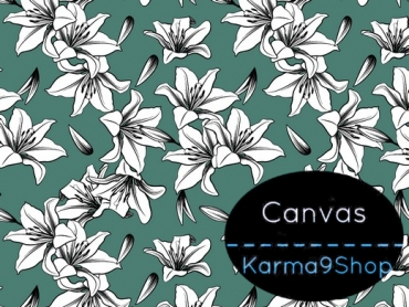 0,5m Canvas Lily mint