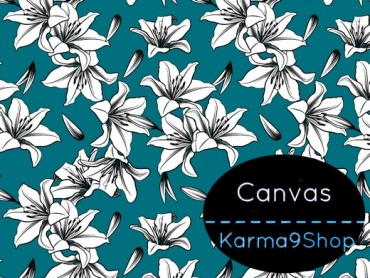 0,5m Canvas Lily petrol