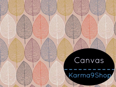 0,5m Canvas Nordic Leaves rosa