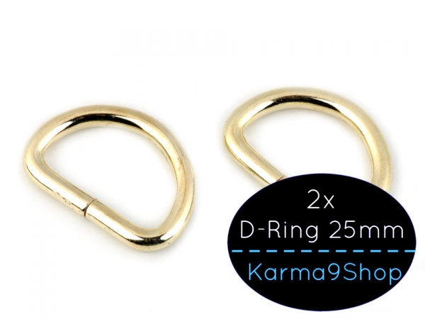 2 D-Ringe 25mm #2 gold hell
