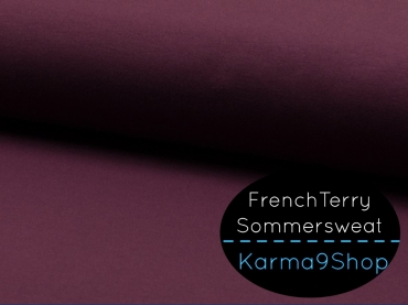 0,1m Sommersweat FrenchTerry bordeaux #Q6