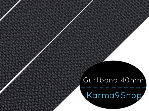Gurtband 40mm anthrazit
