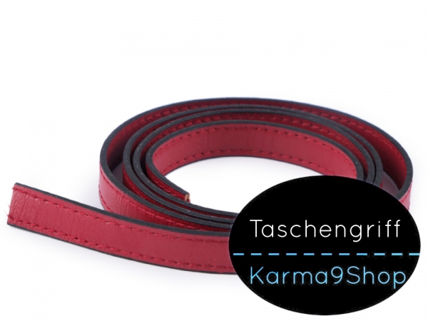 Taschengriff Rohling 15mm rot gesteppt